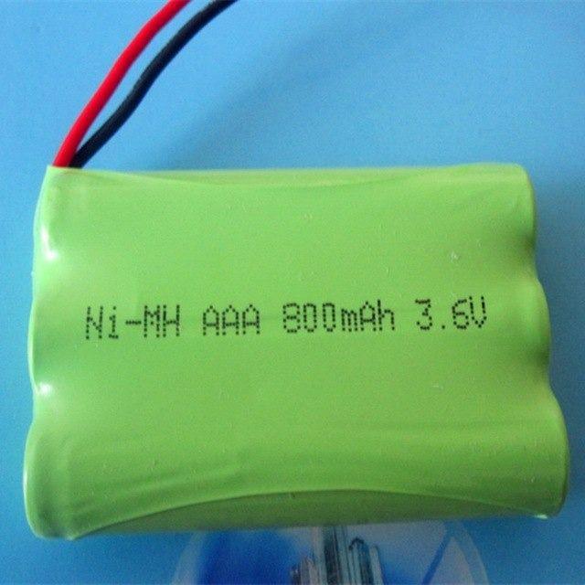Bateria 3,6v Aaa 800mah Ni-mh Com 3 Células Aaa Recarregável