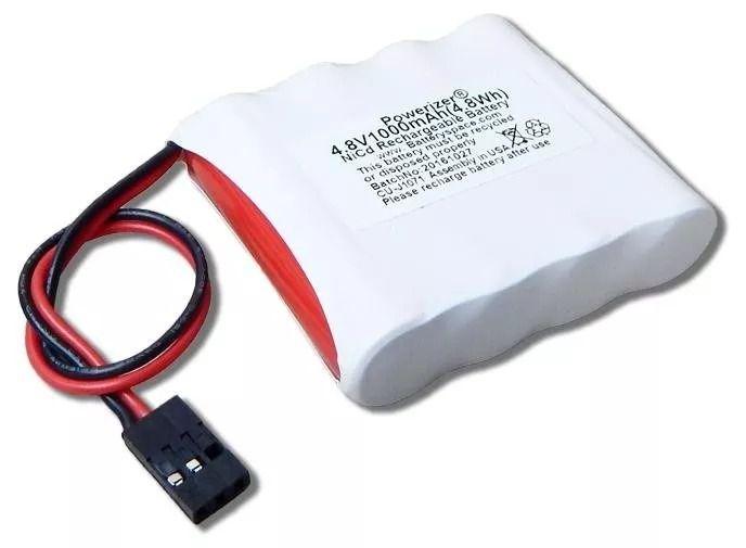 Bateria 4,8v 1000mah Ni-cd Aa Com Conector Futaba