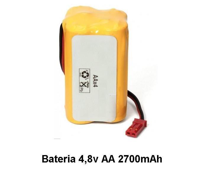 Bateria 4,8v Aa 2700mah Com Conector Jst Bec Recarregável