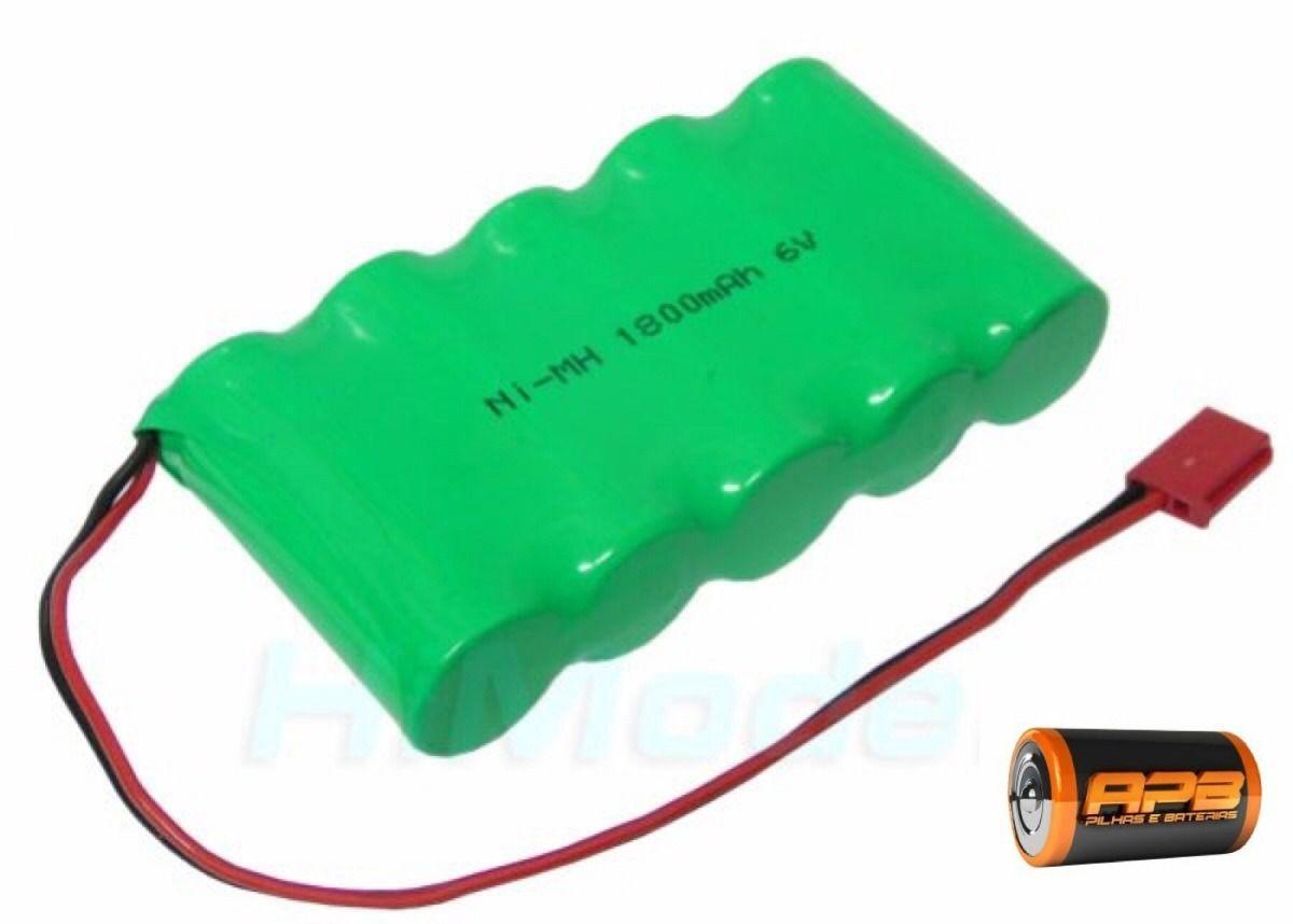 Bateria 6v 1800mah Ni-mh Tamanho 4/5a Conector Futaba