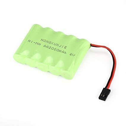 Bateria 6v 2000mah Aa Ni-mh Com Conector Futaba