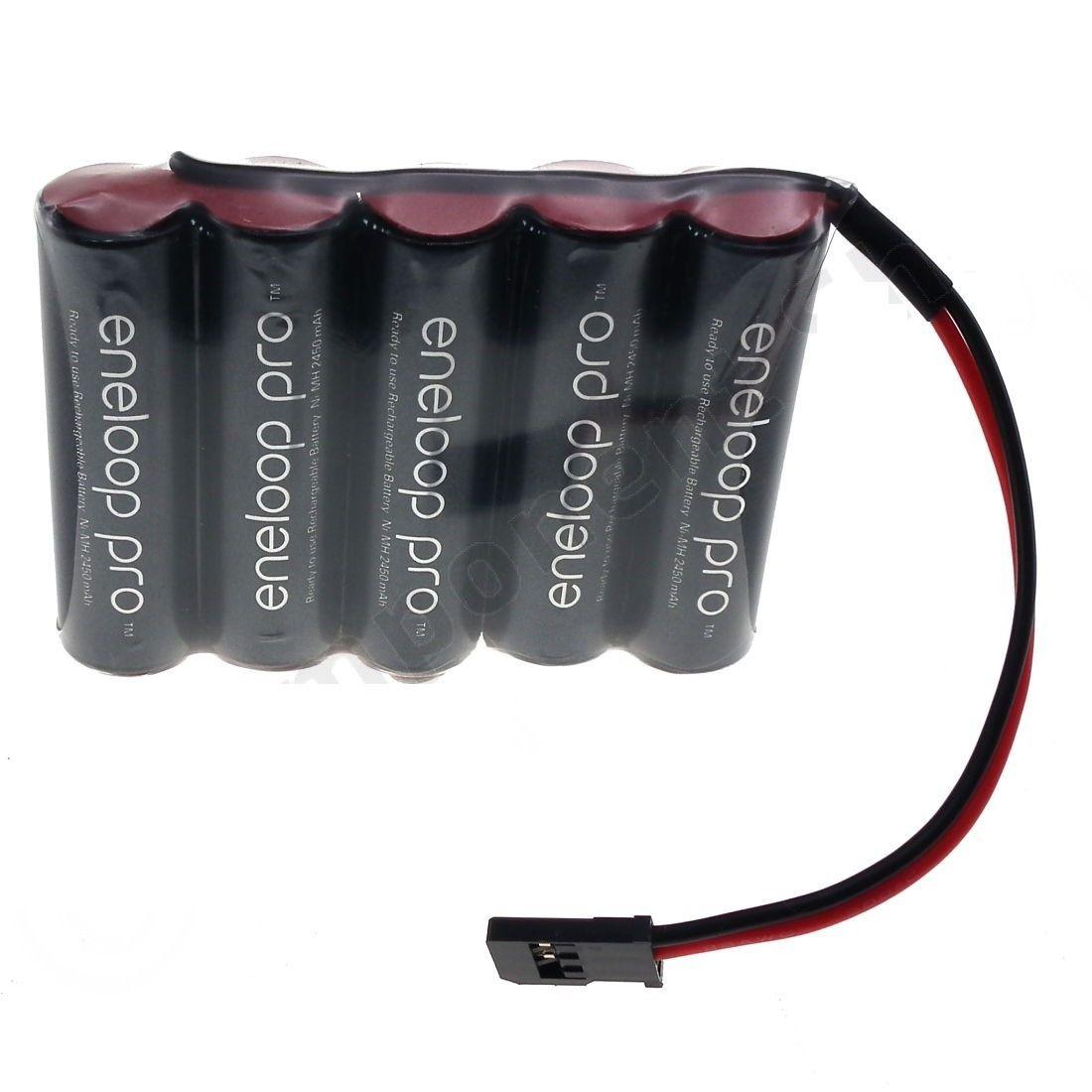 Bateria 6v Aa 2550mah Ni-mh Panasonic Eneloop Pro Futaba Rc