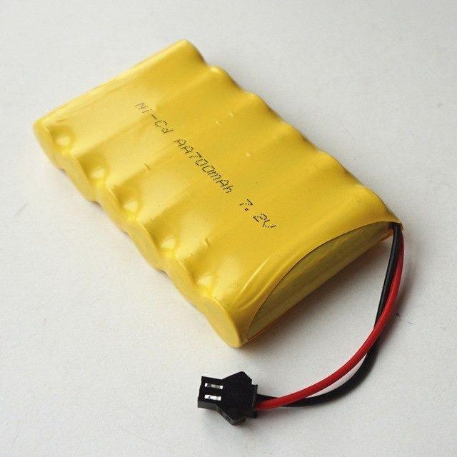 Bateria 7,2v 700mah aa Do Carrinho Anfibius - Estrela