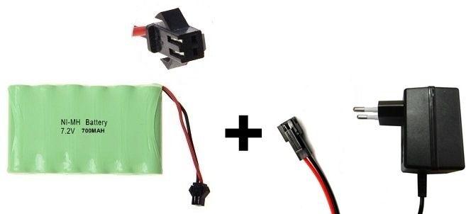 Bateria 7,2v 700mah Com Carregador Smp 02