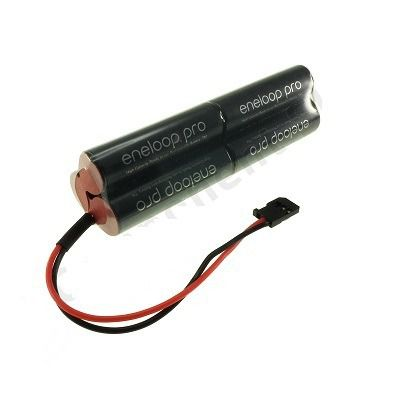 Bateria 7,2v Aa 2550mah Ni-mh - Eneloop Pro Conector Futaba