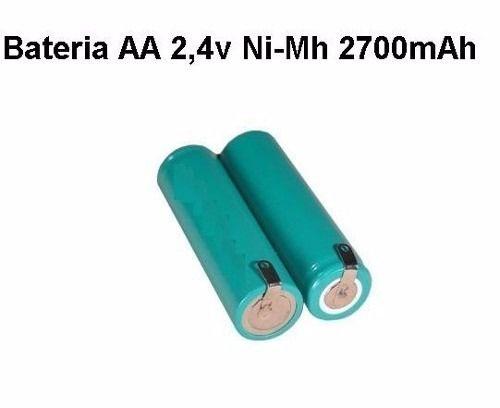 Bateria Aa 2,4v 2700mah Ni-mh Com Terminais Recarregável