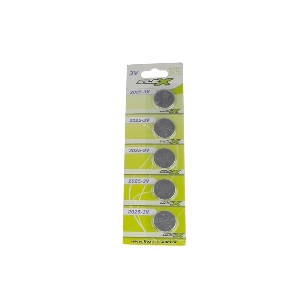 Bateria Botao Cr2025 3v Flex Blister Com 05