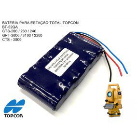 BATERIA BT52QA PARA ESTAÇÃO TOTAL TOPCON SERIES 7,2V 2700MAH