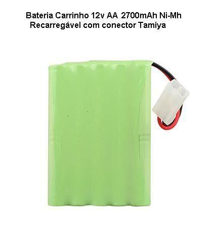 Bateria Carrinho 12v Aa 2700mah Ni-mh Com Conector Tamiya