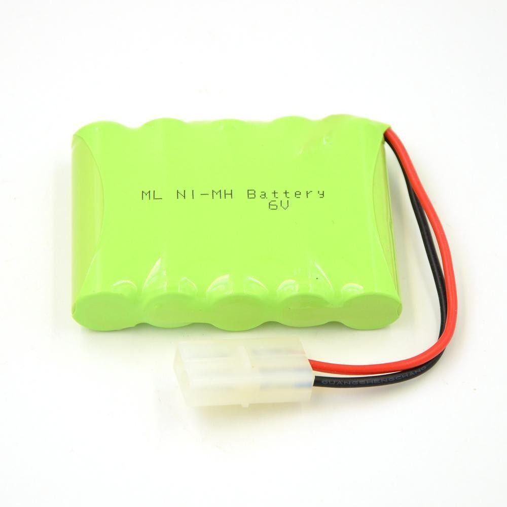 Bateria Carrinho 6v Aa 2500mah Ni-mh Com Conector Tamiya