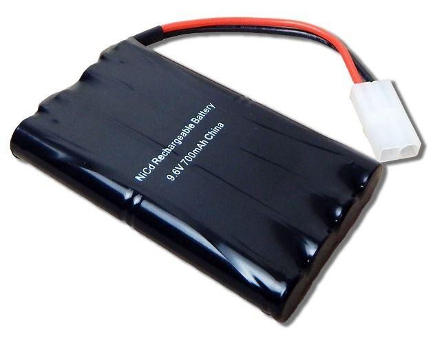 Bateria Carrinho 9,6v 700mah Ni-cd Com Conector Tamiya Rc