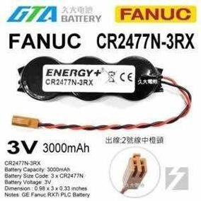 BATERIA CR2477 44A747665-001R03 3Volts Robot,PLC, Machine, GE Fanuc RX7i PLC Battery backup FANUC, RX7i CPU 3000MAh.