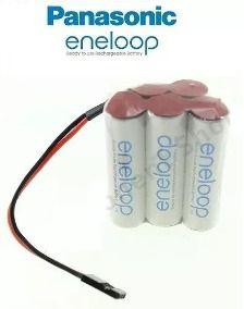 Bateria Futaba 6v Aa 2000mah Ni-mh Panasonic Eneloop 5xaa