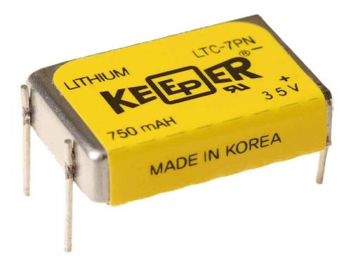 Bateria Keeper Ltc-7pn 3,5v 750mah Lithium