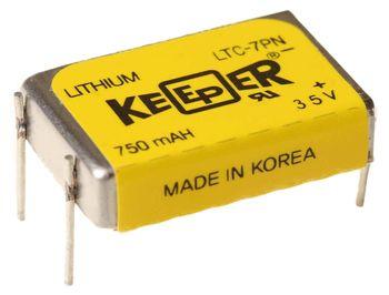Bateria Keeper Ltc-7pn 3,5v 750mah Lithium Original