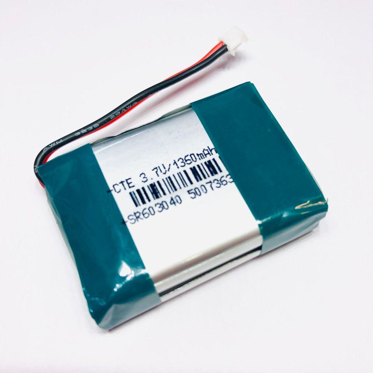 Bateria Li-po 3,7v 1360mah 2s 42x30x12mm Recarregável Pcb