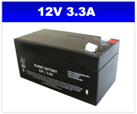 BATERIA SELADA 12V 3,3AH PLANET BATTERY
