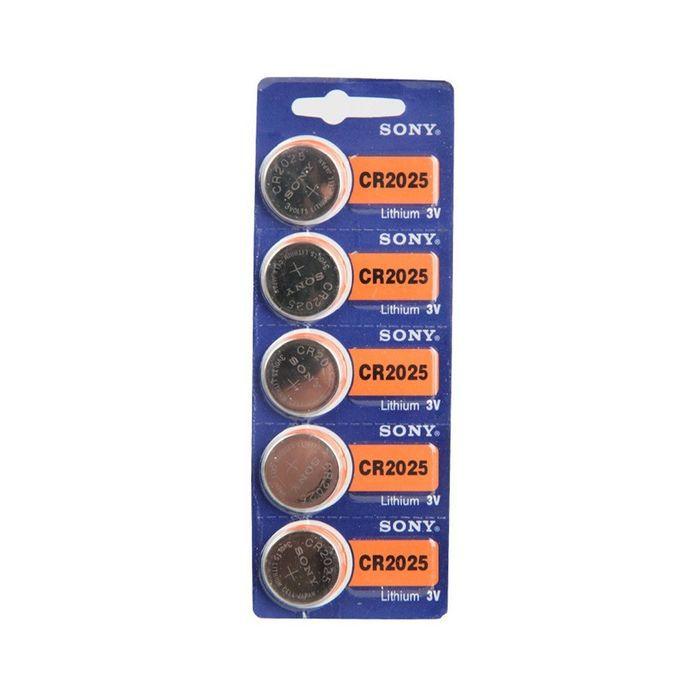 Bateria Sony CR2025 - Cartela com 5
