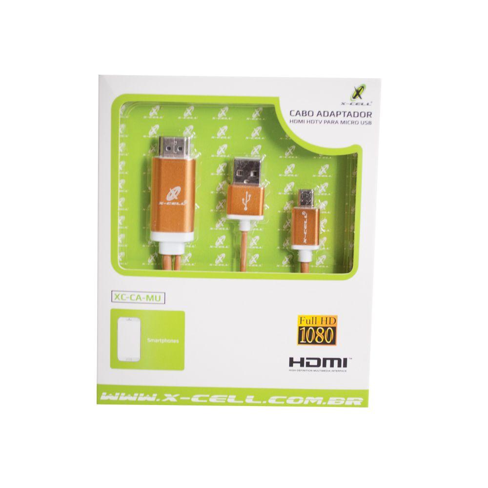 CABO ADAPTADOR HDMI HDTV PARA MICRO USB (V8) FLEX