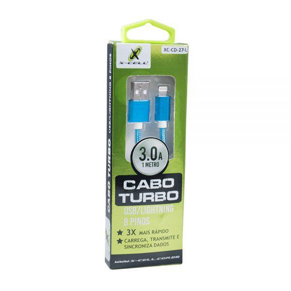 CABO DE DADOS USB / LIGHT 8P 3.0A 1 METRO NYLON