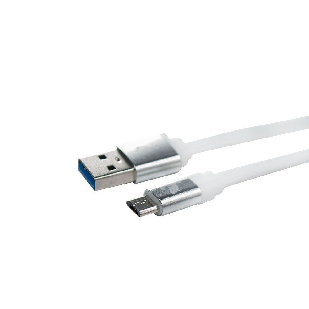 CABO DE DADOS USB / MICRO USB V8 2.0A 1 METROS FLAT