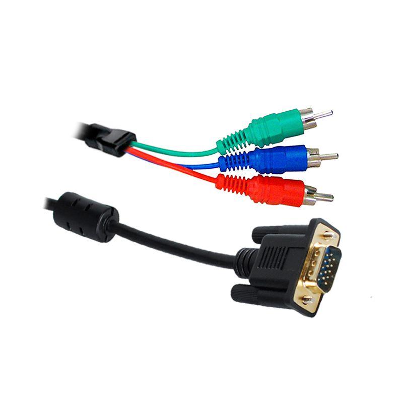 CABO VGA DB15 MACHO X VÍDEO COMPONENTE 1,8 METROS
