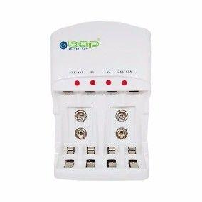 CARREGADOR BAP-550 PARA PILHAS AA/AAA/9V BAP ENERGY