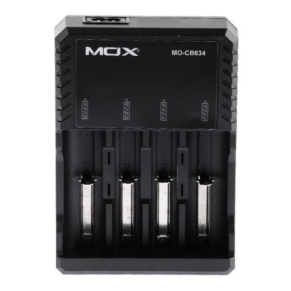 Carregador De Pilha 18650 Mox Mo-cb634 Para Até 4 Pilhas Bivolt li-ion