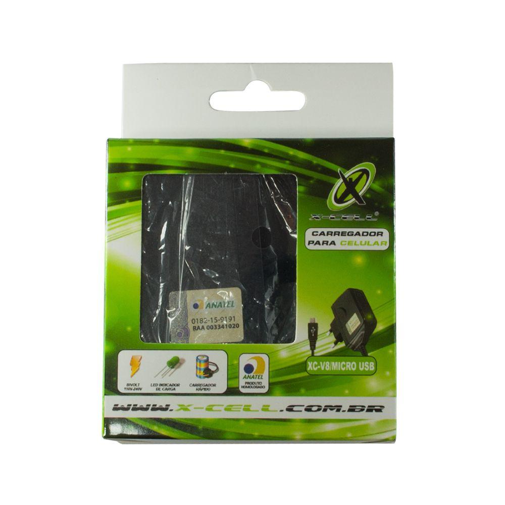 CARREGADOR PARA CELULAR DE PAREDE V8/MICRO USB