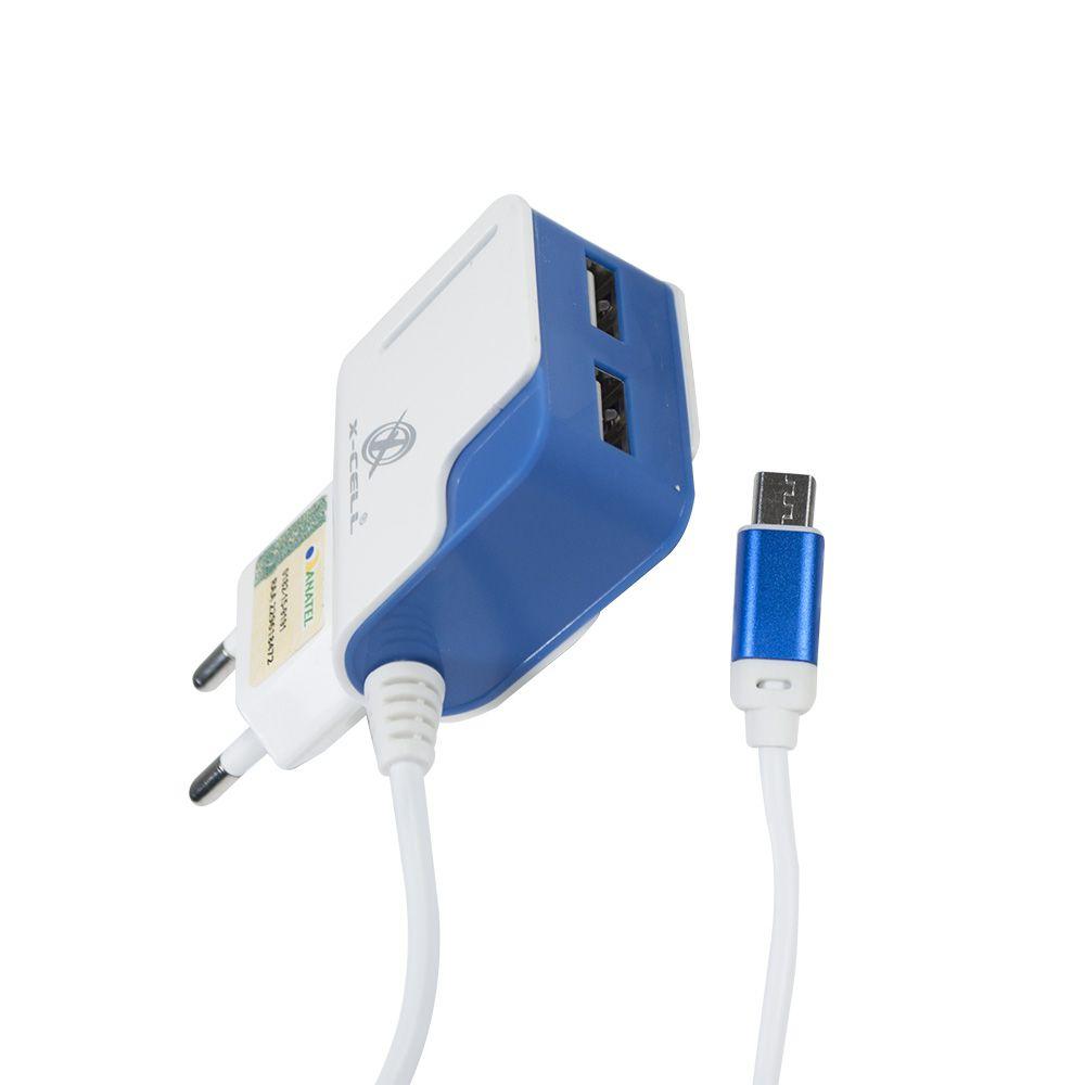 CARREGADOR ULTRA RAPIDO V8/MICRO USB 3.1A C/ 2 ENTRADAS USB
