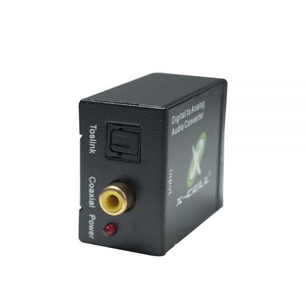 CONVERSOR/ADAPTADOR OPTICO X RCA + FONTE