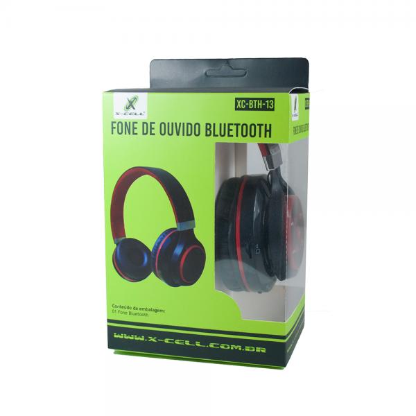 FONE DE OUVIDO BLUETOOTH C/ ENTRADA P2 CARTAO SD RADIO FM
