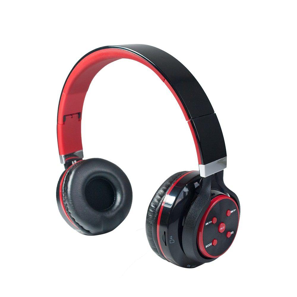 FONE DE OUVIDO BLUETOOTH C/ ENTRADA P2 / CATAO SD/ RADIO FM PRETO