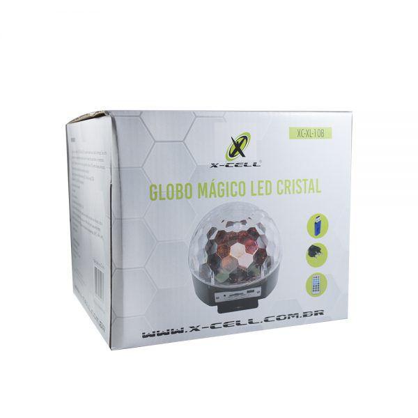 GLOBO MAGICO LED CRISTAL COM BLUETOOTH 6 LED 30W