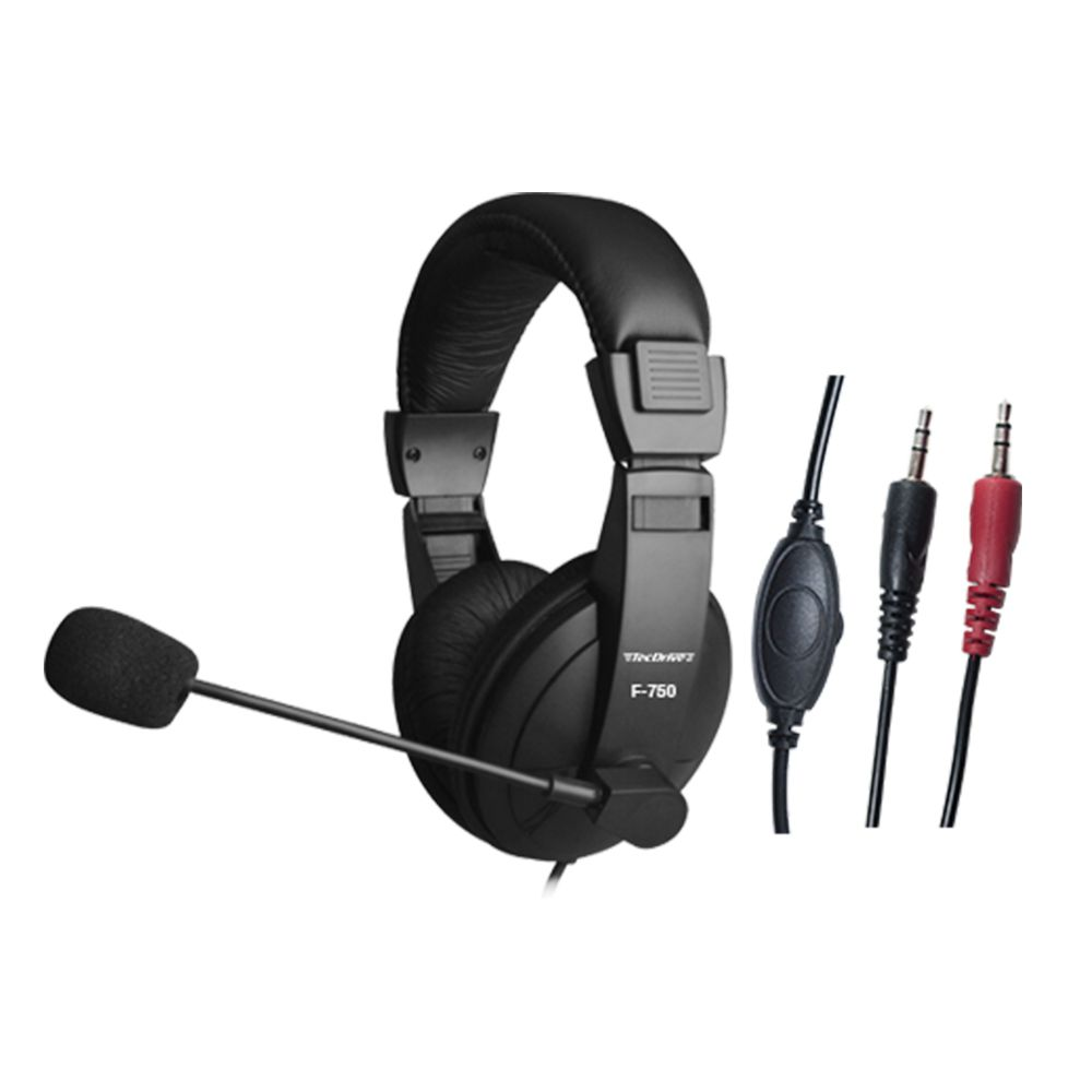 HEADSET PC COM CONTROLE DE VOLUME NO CABO HASTE REGULAVEL