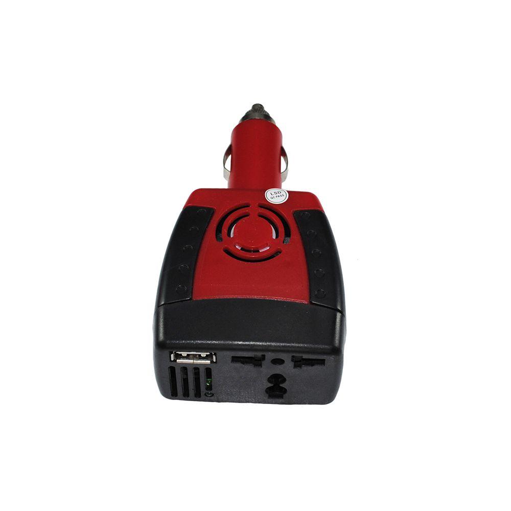 INVERSOR-CONVERSOR VEICULAR DC 12V PARA AC 220V 150W COM USB