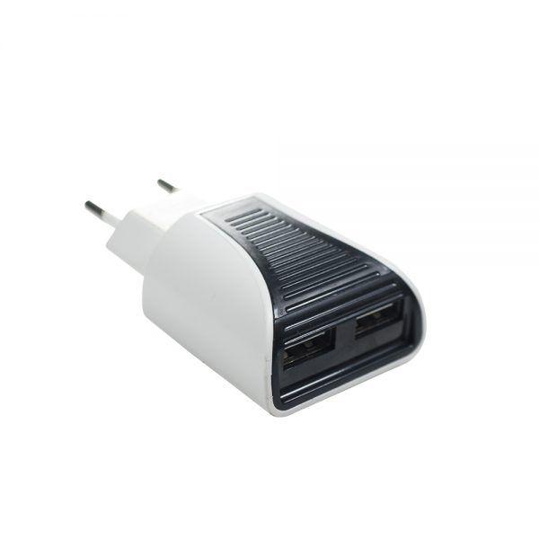 KIT COM 20 CARREGADORES DE TOMADA COM 2 PORTAS USB 2.0A