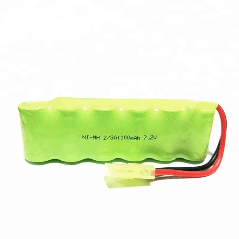 Kit Com 3 Baterias 2/3a 1100mah Ni-mh 7,2v Com 6 Celulas
