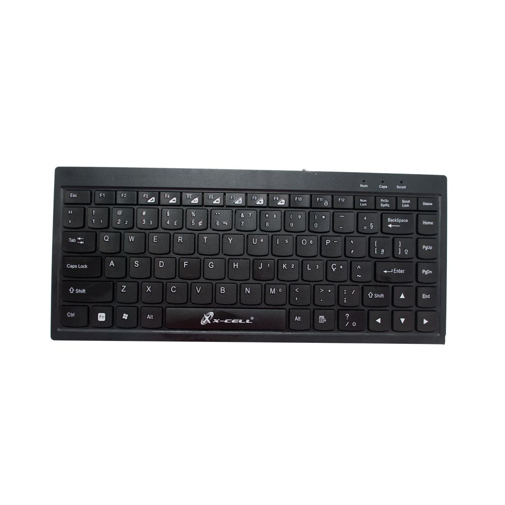 MINI TECLADO SLIM USB MULTIMÉDIA PRETO