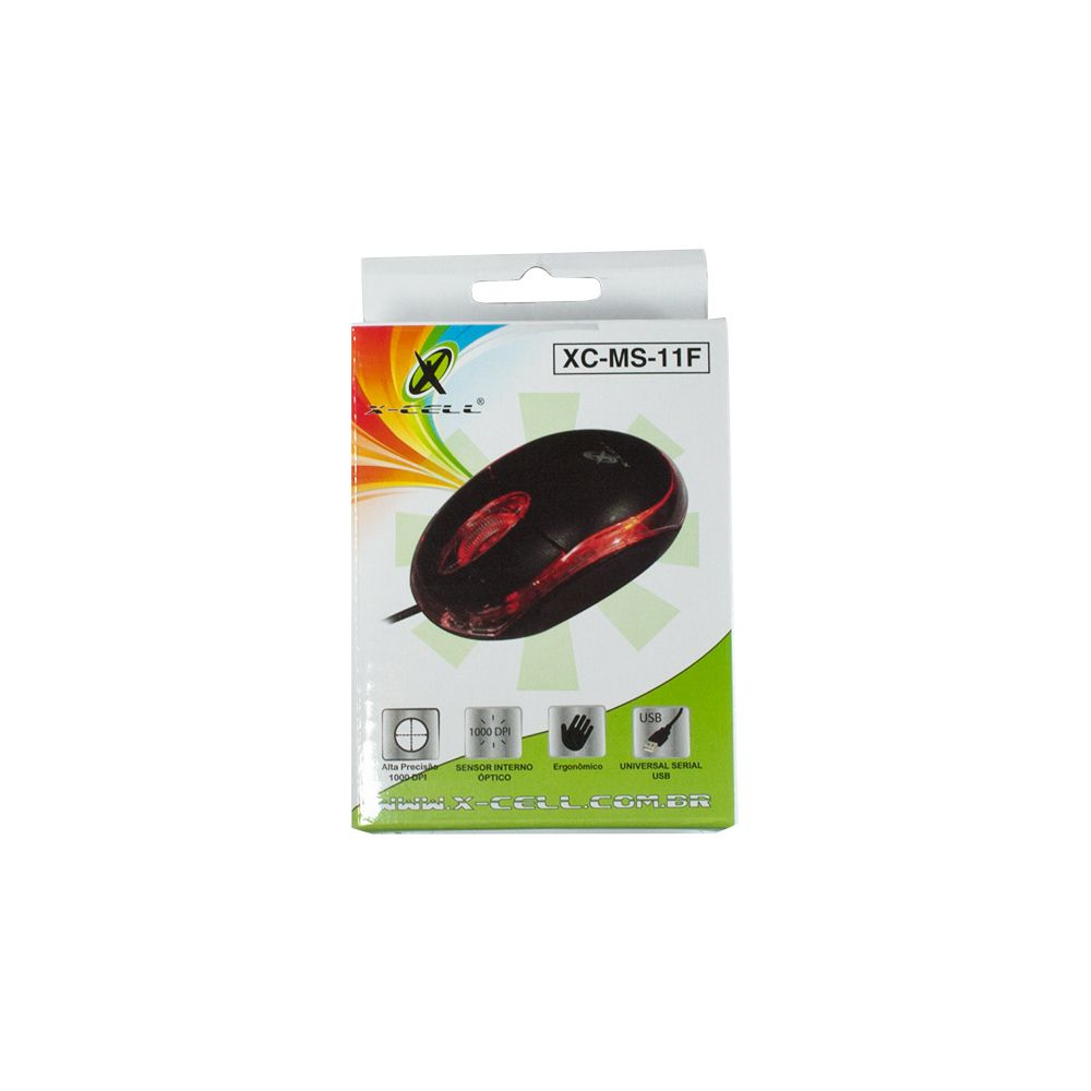 MOUSE  OPTICO USB COM 1000 DPI