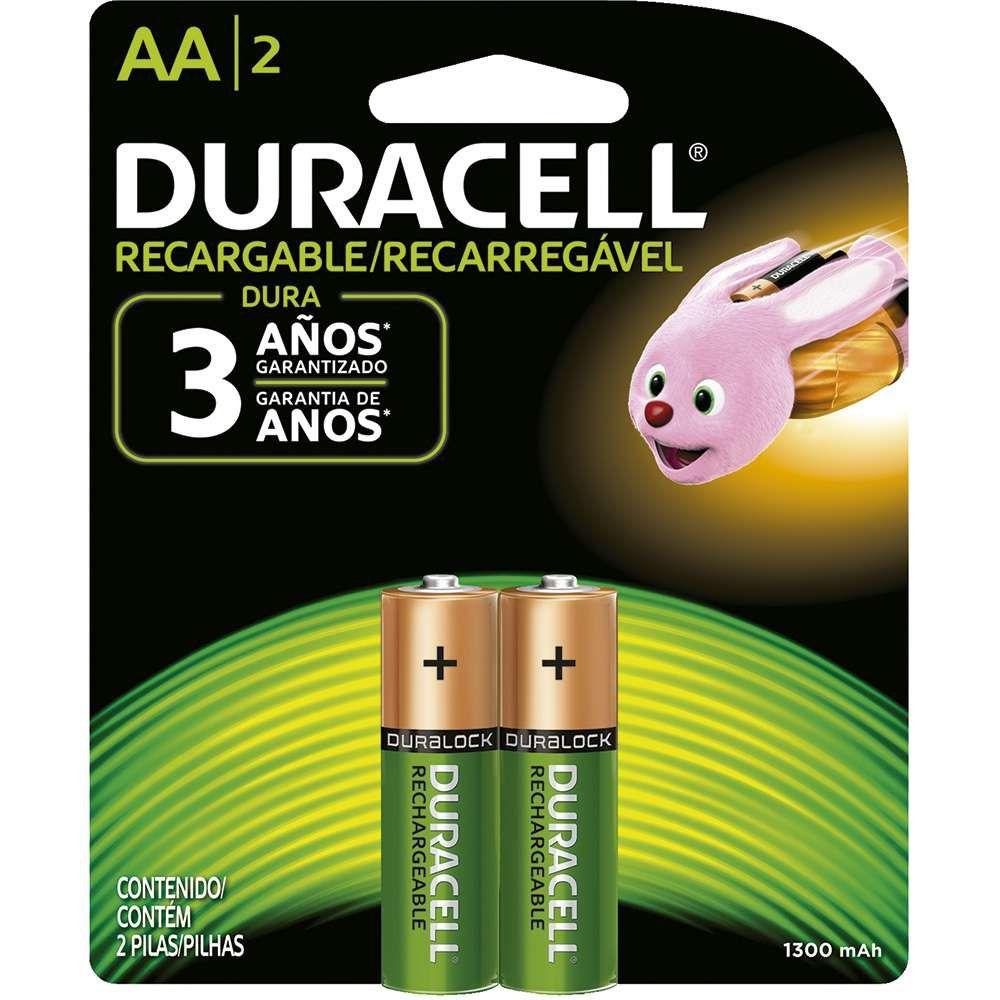 Pilha Aa C/2 Duracell Recarregavel