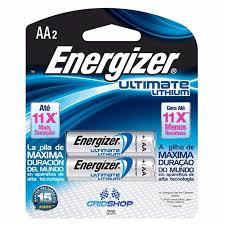 Pilha Energizer Ultimate Lithium Aa Cartela Com 2 Pilhas