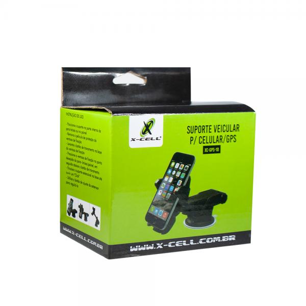 SUPORTE VEICULAR PARA CELULAR E GPS UNIVERSAL TRAVA AUTOMATICA NEW LONG VENTOSA