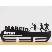 Porta Medalhas Personalizado Acrílico Corrida Aplique #run Masculino 4