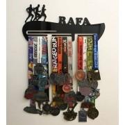 Porta Medalhas Personalizado Acrílico Corrida Masculino 1