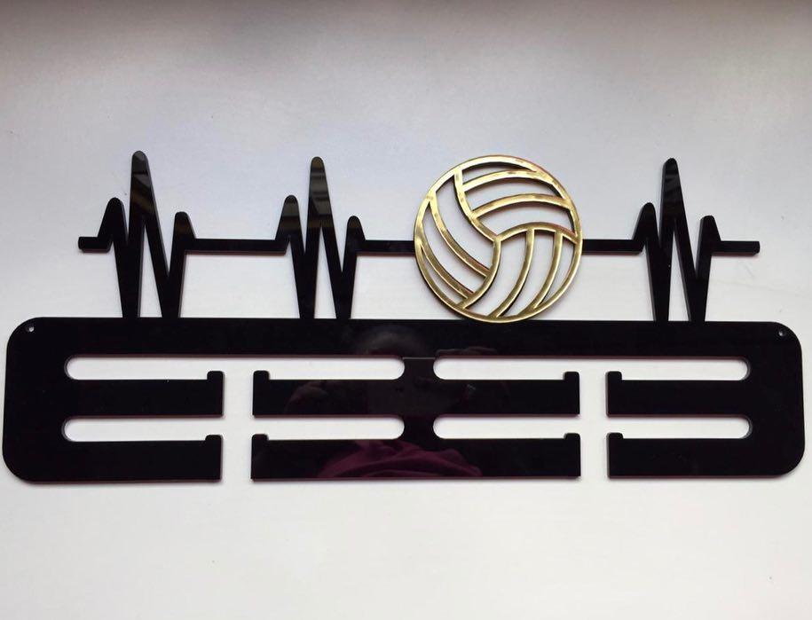 Porta Medalhas Acrílico Bola Futebol 12