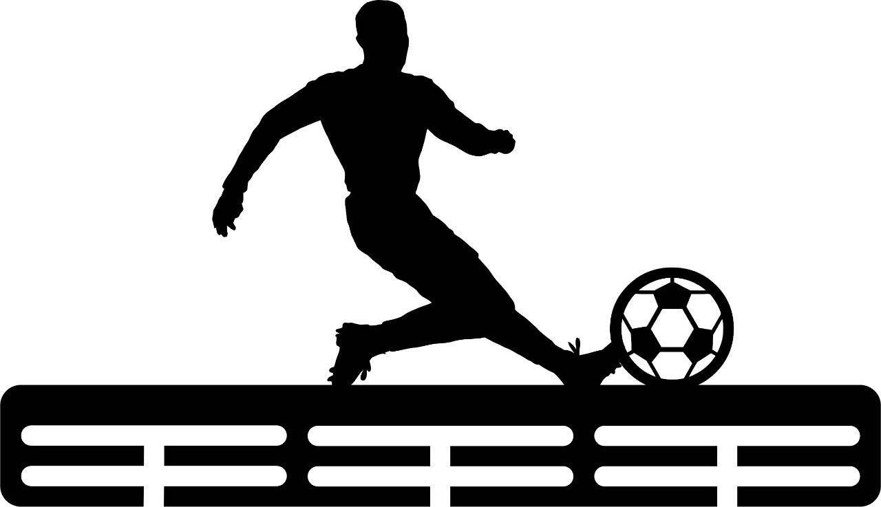 Porta Medalhas Acrílico Futebol 8