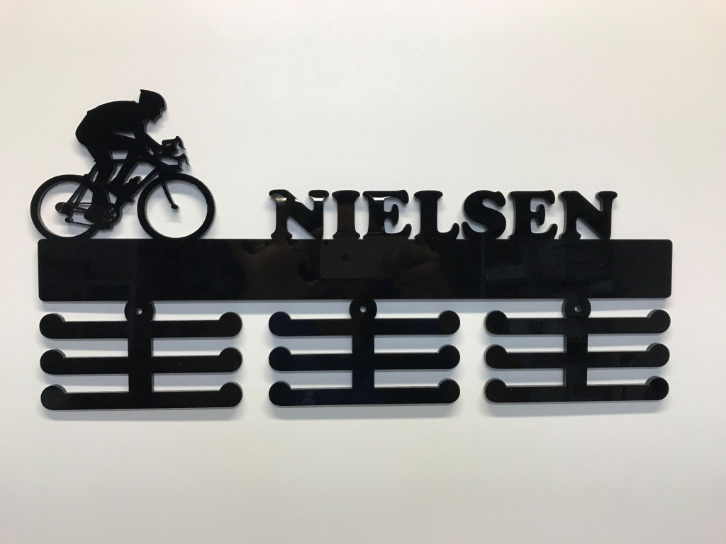 Porta Medalhas Personalizado Acrílico Ciclismo Masculino 1