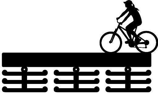 Porta Medalhas Personalizado Acrílico Ciclismo Feminino 2