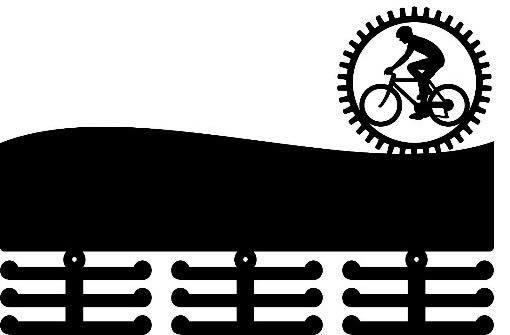 Porta Medalhas Personalizado Acrílico Ciclismo Masculino 2